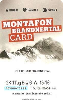 Liftticket Bergbahnen Brandnertal