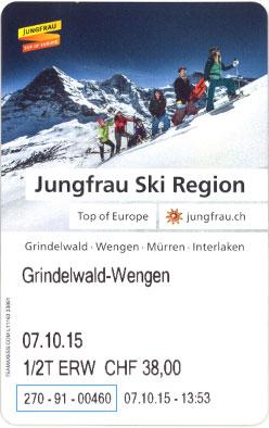 Liftticket Jungfrau Ski Region