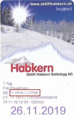 Liftticket Habkern-Sattelegg