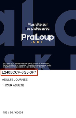 Liftticket Pra Loup