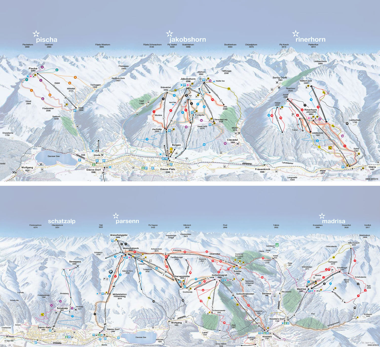 Skiline General info about ski resort Davos Klosters